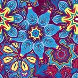 Modèle tiré par la main sans couture de mandala Éléments décoratifs de cru Fond violet différent de ton de couleur L'Islam, arabe Photographie stock