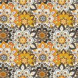 Modèle tiré par la main sans couture de mandala Éléments de vintage dans l'orienta Images libres de droits