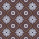 Modèle tiré par la main sans couture de mandala pour imprimer sur le tissu ou la PA Photographie stock