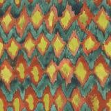 Modèle tiré par la main sans couture de shibori d'aquarelle Image stock