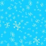 Modèle tiré par la main sans couture des fleurs abstraites de pissenlit d'isolement sur le fond bleu Dirigez l'illustration flora illustration de vecteur