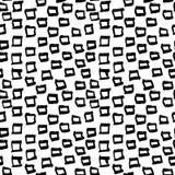 Modèle tiré par la main sans couture géométrique abstrait Texture grunge moderne Fond peint par brosse monochrome Images stock