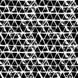 Modèle tiré par la main sans couture géométrique abstrait Texture grunge moderne Fond peint par brosse monochrome illustration de vecteur