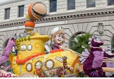 Modèle titanique dans le défilé 2013 de Rose Bowl Photo libre de droits