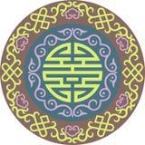 Modèle traditionnel asiatique d'ornement chinois oriental de vecteur illustration libre de droits