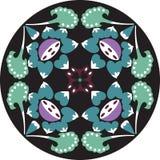 Modèle traditionnel chinois oriental de cercle de fleur de lotus Images libres de droits