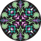 Modèle traditionnel chinois oriental de cercle de fleur de lotus Photo stock