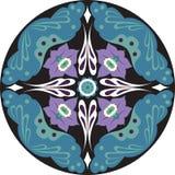 Modèle traditionnel chinois oriental de cercle de fleur de lotus illustration libre de droits