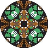Modèle traditionnel oriental de cercle de fleur de lotus de vecteur Image stock