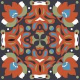 Modèle traditionnel oriental de place de poisson rouge de fleur de lotus Photo libre de droits