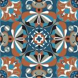 Modèle traditionnel oriental de place de poisson rouge de fleur de lotus Image libre de droits