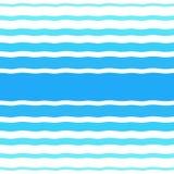 Modèle tramé de vecteur sans couture avec les vagues bleues de gradient Photo stock