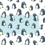 Modèle transparent de pingouins Image stock