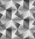 Modèle transparent monochrome polygonal sans couture Illusion optique de volume et de profondeur Image libre de droits