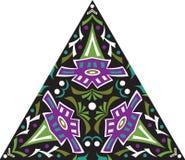 Modèle triangulaire de fleur traditionnelle orientale de vecteur Photographie stock