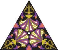 Modèle triangulaire de fleur traditionnelle orientale de vecteur Photographie stock libre de droits