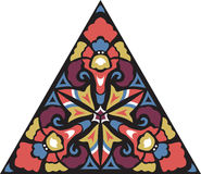 Modèle triangulaire de fleur traditionnelle orientale de vecteur Photo libre de droits