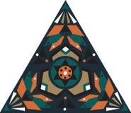Modèle triangulaire traditionnel oriental de fleur de lotus Image stock