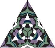 Modèle triangulaire traditionnel oriental de fleur de lotus Photo stock