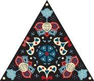 Modèle triangulaire traditionnel oriental de fleur de lotus de vecteur Image stock