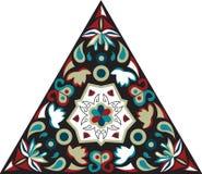 Modèle triangulaire traditionnel oriental de fleur de lotus de vecteur Photo stock
