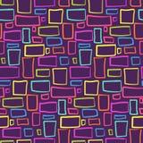 Modèle tribal abstrait avec des rectangles colorés illustration libre de droits