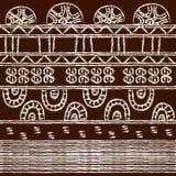 Modèle tribal avec des motifs de tribus africaines Surma et Murs illustration libre de droits