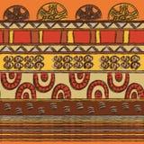 Modèle tribal avec des motifs de tribus africaines Surma et Mursi Illustration Stock