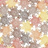 Modèle tribal avec des motifs de tribus africaines Surma et Mursi Illustration Libre de Droits