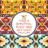 Modèle tribal coloré sans couture de vecteur illustration libre de droits