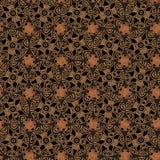 Modèle tribal dans des tons bruns illustration de vecteur