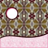 Modèle tribal géométrique avec l'endroit pour votre texte Photo libre de droits