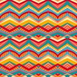 Modèle tribal multicolore Images stock