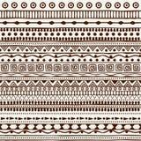 Modèle tribal sans couture dans le style d'un boho Motifs d'Africain de fond Photographie stock
