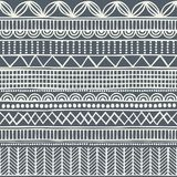 Modèle tribal sans couture dans le style d'un boho Motifs d'Africain de fond Photos libres de droits