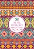 Modèle tribal sans couture de hippie avec les éléments géométriques Images libres de droits