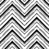 Modèle tribal tiré par la main Zigzag et ligne de rayure Photos stock