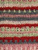 Modèle tricoté coloré multi Photos stock