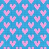 Modèle tricoté de coeurs illustration stock