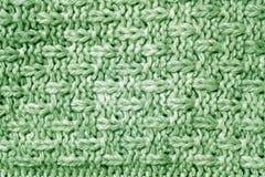 Modèle tricoté de couleur verte Photos stock