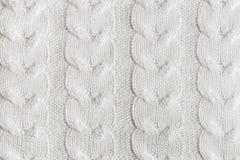 Modèle tricoté fait main en gros plan de fil Fond texturisé chaud fait maison Image libre de droits