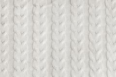 Modèle tricoté fait main en gros plan de fil Fond texturisé chaud fait maison Images libres de droits