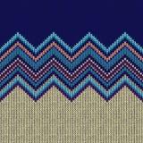 Modèle tricoté géométrique ethnique sans couture Image stock