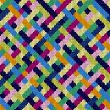 Modèle tricoté multicolore tissé sans couture illustration de vecteur