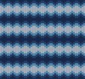 Modèle tricoté par bleu Image stock