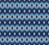 Modèle tricoté par bleu Photo stock