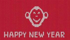 Modèle tricoté par salutation scandinave de nouvelle année de style Image stock