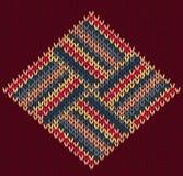 Modèle tricoté par vintage sans couture de style Photos stock