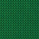 Modèle tricoté sans couture de laine de vecteur Images stock