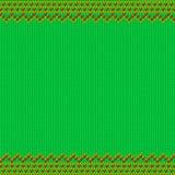 Modèle tricoté sans couture de style juste traditionnel d'île Images libres de droits